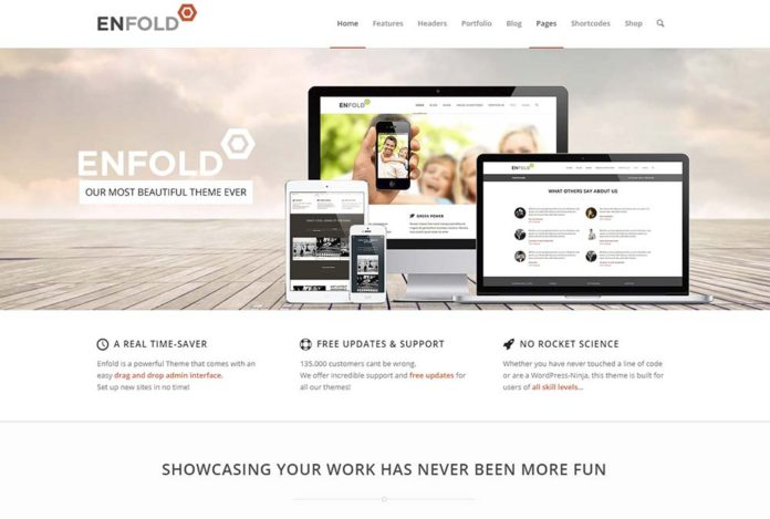 Enfold theme - скриншот главного фото темы.