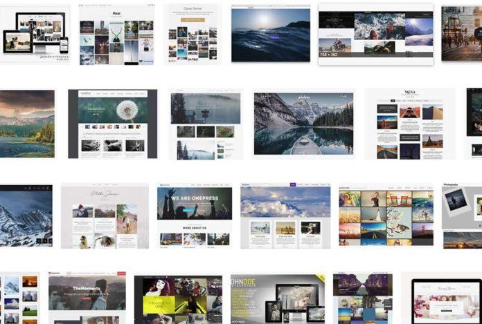 Сайт фотографа - подборка тем (скриншот)