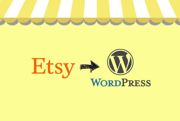 Логотипы etsy и wordpress для статьи «Как добавить магазин Etsy на сайт Wordpress».
