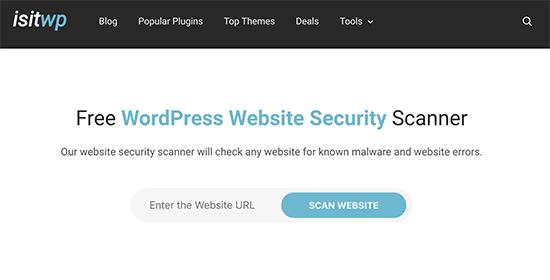 IsItWP Security Scanner - инструмент для проверки безопасности сайта