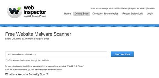 Web Inspector - полезный сервис для проверки безопасности сайта