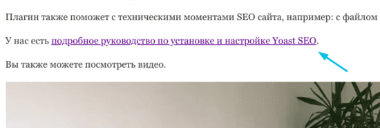 Пример анкорной ссылки для SEO сайта