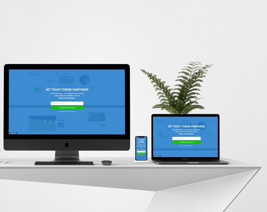 Полноэкранная форма OptinMonster - сервиса email-маркетинга