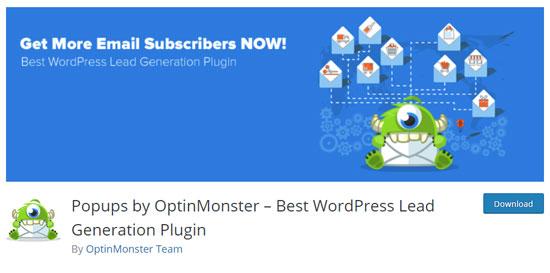 Плагин OptinMonster для создания формы подписки