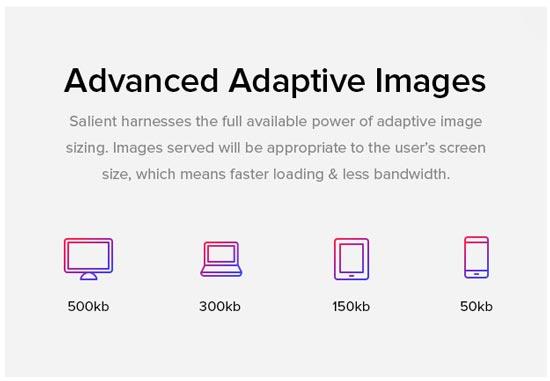 Настройка изображений под любой экран в теме Salient