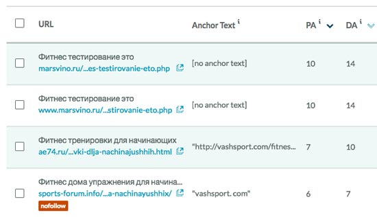 Проверка обратных ссылок на сервисе Link Explorer от Moz