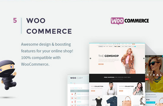Премиум тема TheGem совместима с WooCommerce