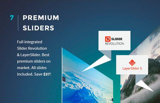 Revslider & Layerslider включены в тему