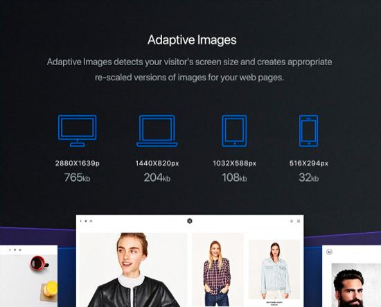 Функция адаптивных изображений темы