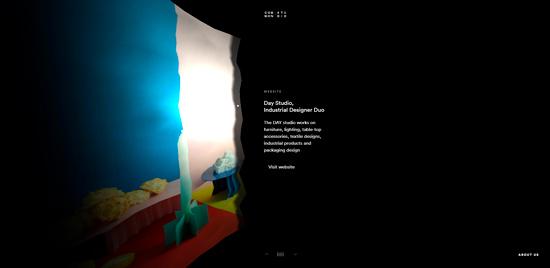 Пример использования 3D дизайна на сайте (веб-дизайн 2020)