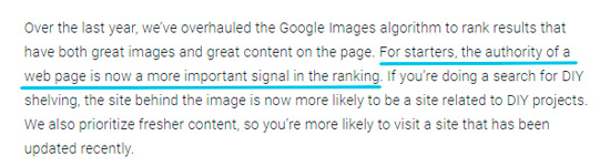 Авторитет страницы - важный фактор по мнению Google