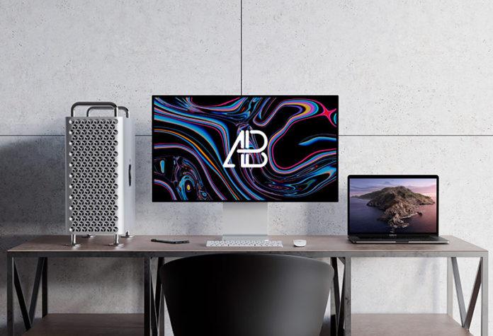 Мокап Mac Pro и macbook pro скачать бесплатно