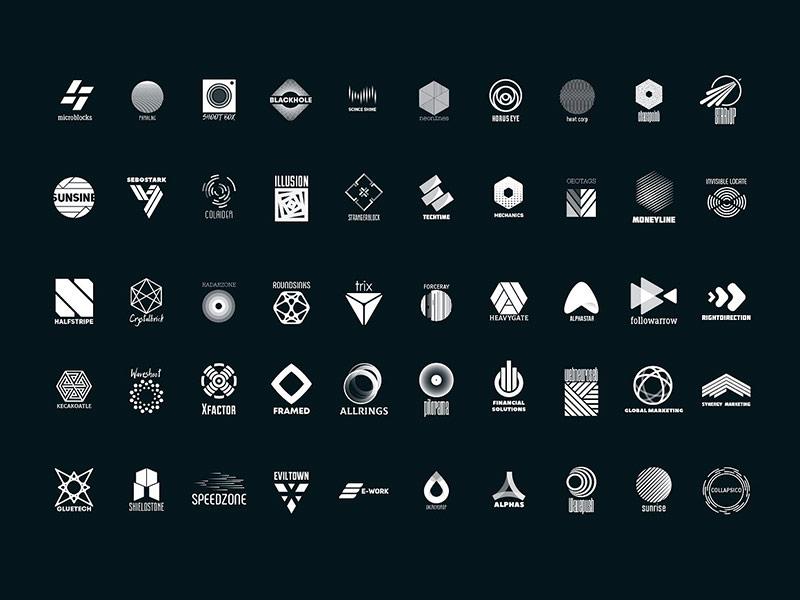 Абстрактные логотипы скачать бесплатно