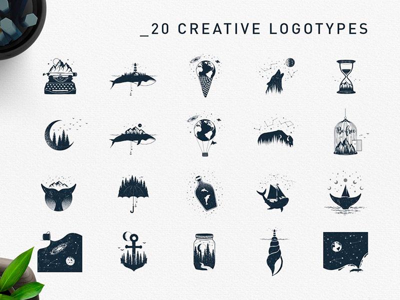 Креативные логотипы скачать бесплатно