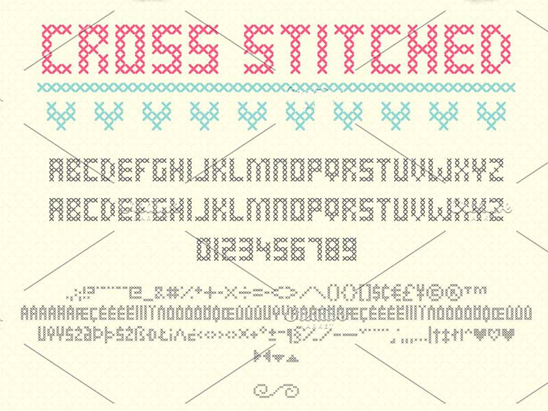 Шрифт Cross Stitched бесплатно
