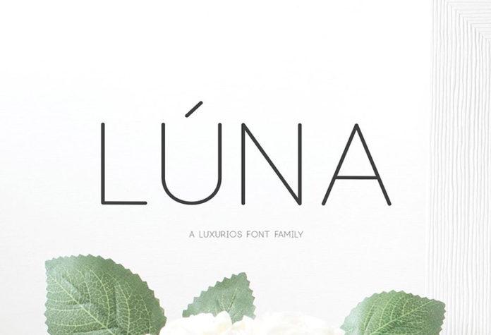 Шрифт Luna бесплатно