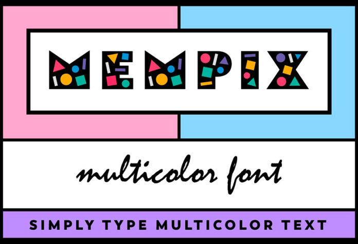 Шрифт Mempix бесплатно