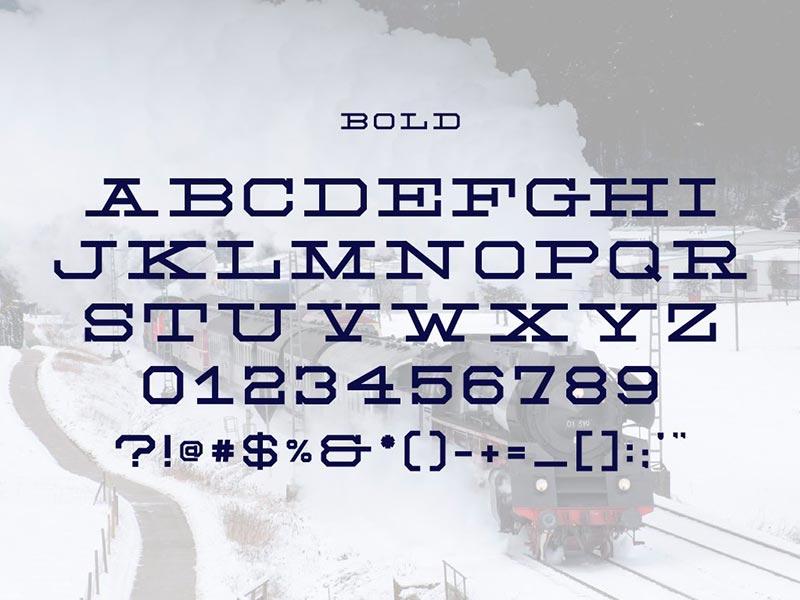Шрифт NH Rail бесплатно