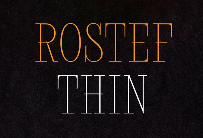 Шрифт Rostef Thin бесплатно