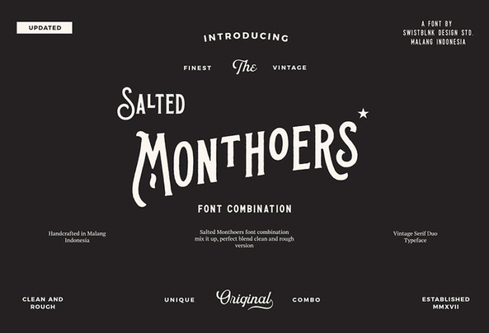 Шрифт Salted Monthoers бесплатно