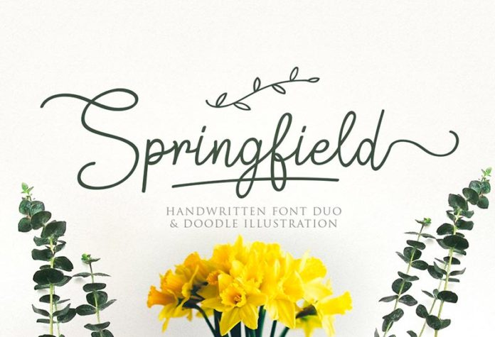 Шрифт Springfield бесплатно