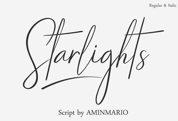 Шрифт Starlights бесплатно