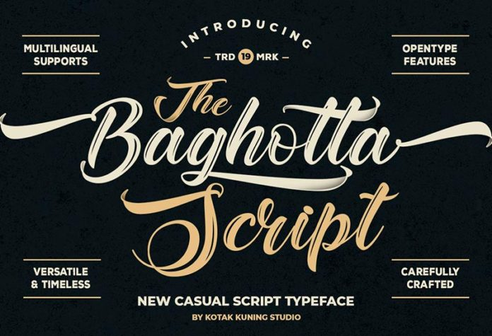 Шрифт The Baghotta бесплатно