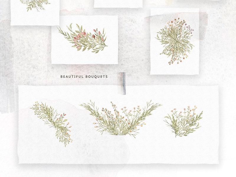 Букет лесных цветов клипарт бесплатно