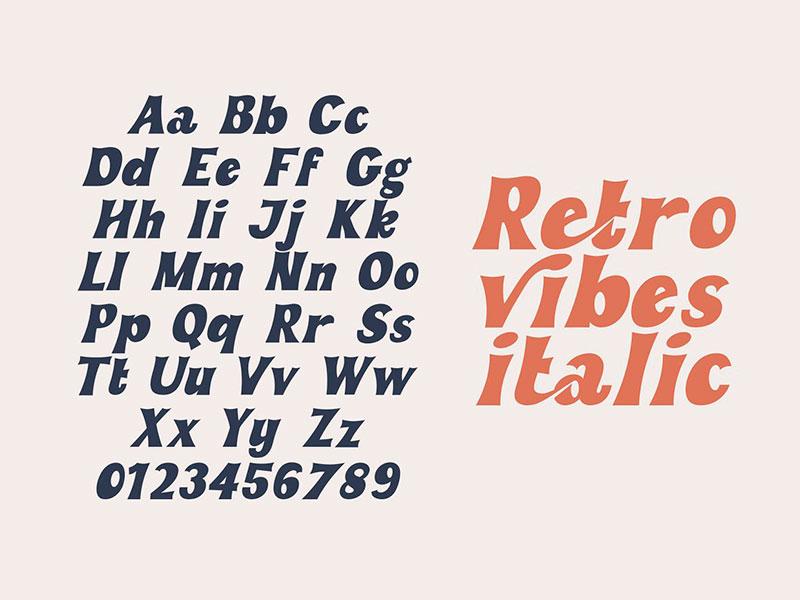 Шрифт Retro Vibes бесплатно