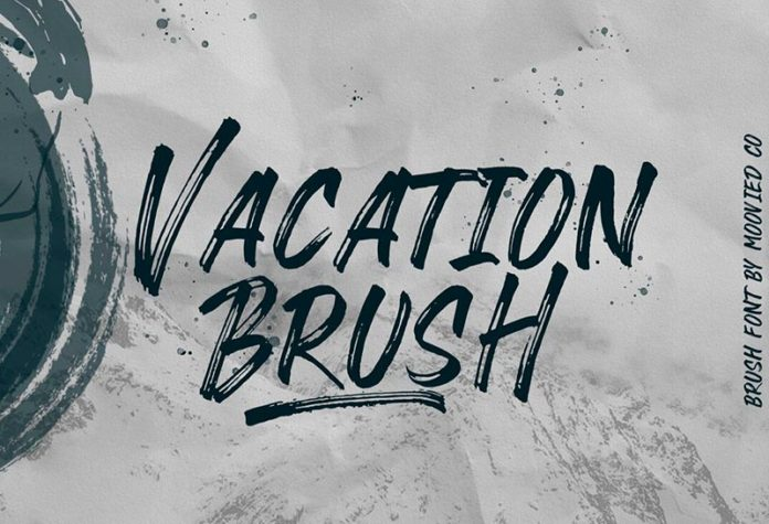Шрифт Vacation Brush бесплатно