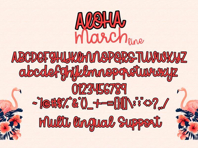Шрифт Aloha March бесплатно