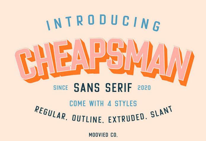 Шрифт Cheapsman Sans бесплатно