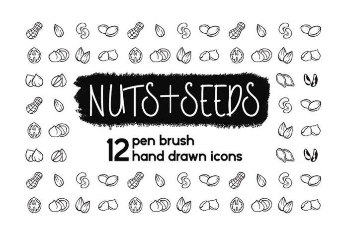 Иконки орехи и семена бесплатно