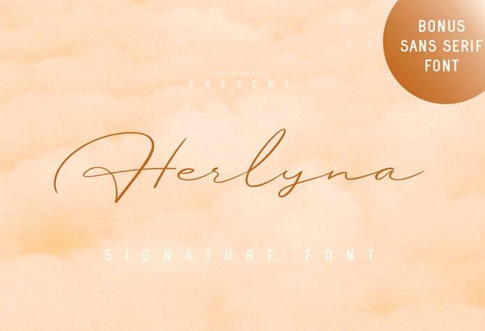 Шрифт Herlyna бесплатно